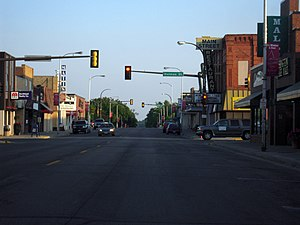 Detroit Lakes, Minnesota - Downtown Detroit Lakes along Washington Avenue