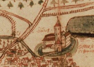 Arnschwang - Moated Castle Arnschwang 1607