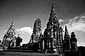 Wat Chaiwatthanaram ,black and white.jpg