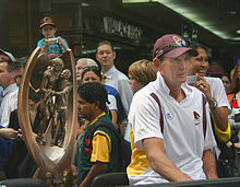 Description de l'image Wayne Bennett (4 October 2006, Brisbane).jpg.