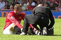 Rooney receiving treatment for his broken foot