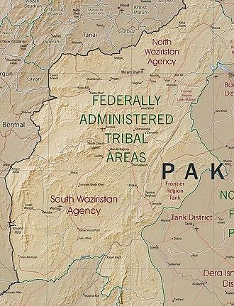 Operation Rah-e-Nijat - Image: Waziristan map 2008