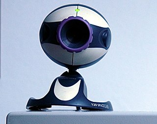 Webcam computer-connected video camera that streams its image in real time to a computer network