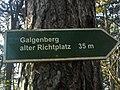 Wegweiser zwischen Kyffhaeuser und Bad Frankenhausen (Galgenberg alter Richtplatz 35 m).jpg