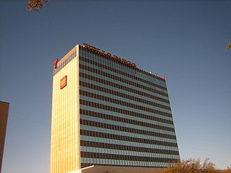 The Wells Fargo Building is the second-tallest building in Lubbock. Wells Fargo in Lubbock, TX IMG 0203.JPG