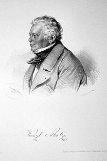 Wenzel Scholz, Lithographie von Joseph Kriehuber, 1857 (Quelle: Wikimedia)