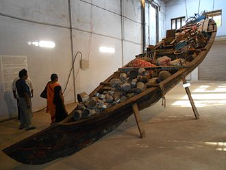 Kochi-Muziris Biennale - Image: What does the vessel contain, that the river does not