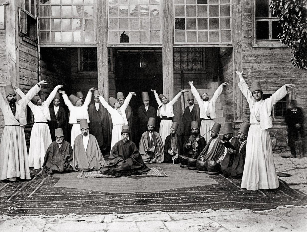 File:Whirling dervishes in Galata Mawlawi House, 1870.png ...