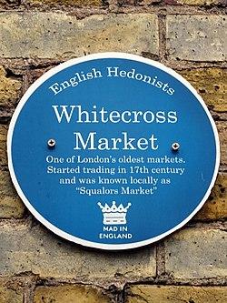 Whitecross market plaque