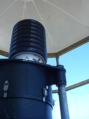 Whitefish Point Light - The light-emitting diode lantern installed at Whitefish Point in August 2011.