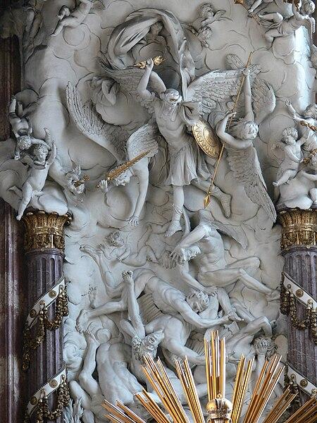 File:Wien Michaelerkirche Hochaltar Engelsturz.jpg