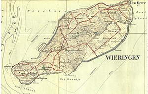 Wieringen - A 1909 map of the island Wieringen