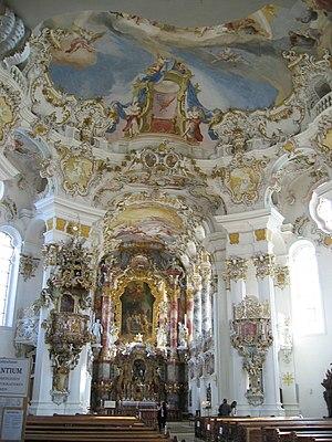 Ο κύριος βωμός στην εκκλησία του Wies