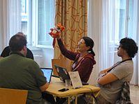 Wikimedia Hackathon Vienna 2017, MCR kickoff 2.jpg