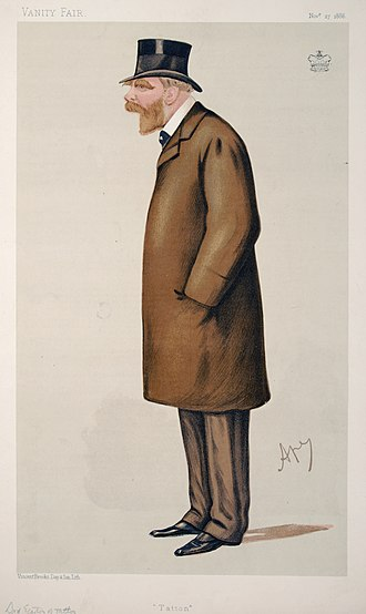 Wilbraham Egerton, 1st Earl Egerton - Caricature by Ape published in Vanity Fair in 1886.