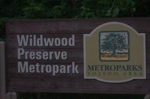 Wildwood Preserve Metropark - Image: Wildwood sign