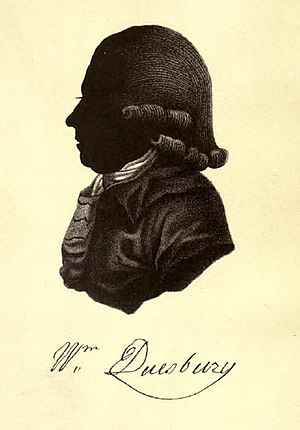 William Duesbury - Silhouette of William Duesbury (18th century).