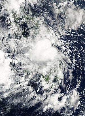 Tropical Depression Wilma (2013) - Image: Wilma 2013 11 04