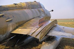 Wing fence - Close up of the wing fences of an East German Air Force Su-22
