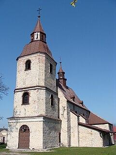 Wojkowice Kościelne Village in Silesian, Poland