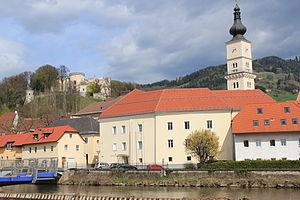 Wolfsberg, Carinthia - Riverside and Wolfsberg Castle