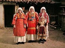 Photographie ancienne de femmes macédoniennes en 1913