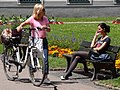 Women outside St. Mary's Cathedral - Augsburg - Germany.jpg