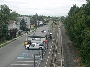 Wood-Ridge station - The Wood-Ridge station in September 2011, from the bridge above the station.
