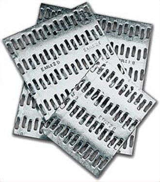 Tie (engineering) - Metal connector plates.