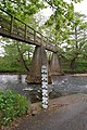 Wooden Footbridge and Ford Marker - geograph.org.uk - 1308468.jpg