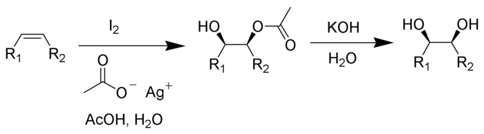 Woodward Cis-Hydroxylation Scheme.png