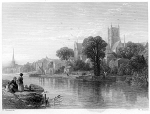 Thomas Creswick - Worcester engraving by William Miller after Creswick
