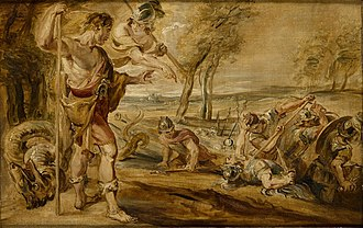 Cadmus - Sowing the Dragon's teeth. Workshop of Rubens