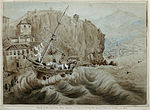 "Wreck of the American Brig ""Créole"" (a slaver) during the great Storm at Madeira in 1842.jpg"