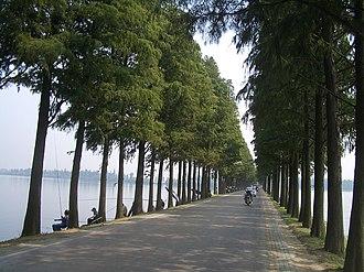 East Lake (Wuhan) - Image: Wuhan Donghu dike 0375