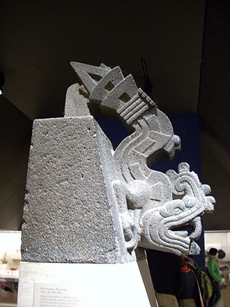 Xiuhcoatl - An Aztec sculpture of Xiuhcoatl from Texcoco, now in the British Museum.