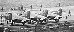 Yak-38 fighters on Soviet carrier Minsk in 1980.jpg