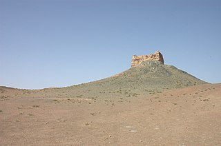 Western Han dynasty pass and watch tower near Dunhuang, Gansu province, China