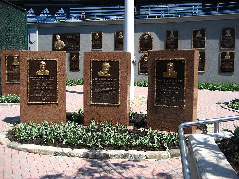 Yankee Stadium Monument Park 2008