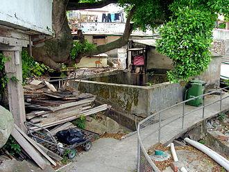 Yung Shue Wan - Yung Shue Wan tenement homes reusing old materials.