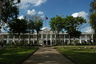 Dipolog - The Zamboanga del Norte Provincial Capitol in Dipolog City prior to renovation, which was commenced by Governor Rolando E. Yebes and was postponed by Governor Roberto Uy.