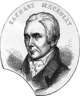 Zachary Macaulay Scottish statistician, abolitionist, governor of Sierra Leone, founder of University of London (1768-1838)