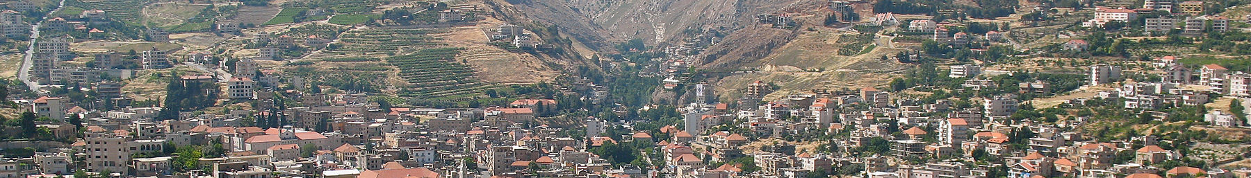 Panorama of Zahlé