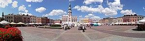 History of Zamość - Zamosc Great Market panorama1