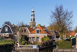 Zicht op de De grote kerk van Hindeloopen. 30-03-2021. (actm) 02.jpg