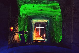 Altiplano Cundiboyacense - The Salt Cathedral of Zipaquirá is located in the centre of the Altiplano