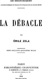 <i>La Débâcle</i> novel by Émile Zola