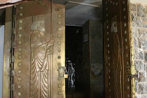 Zoroastrian temple doors opening