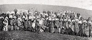 Battle of Rorke's Drift - Historical picture of Zulu warriors from about the same time as the events at Rorke's Drift
