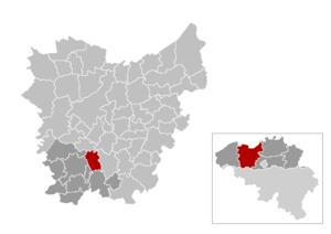 Zwalm - Image: Zwalm Locatie